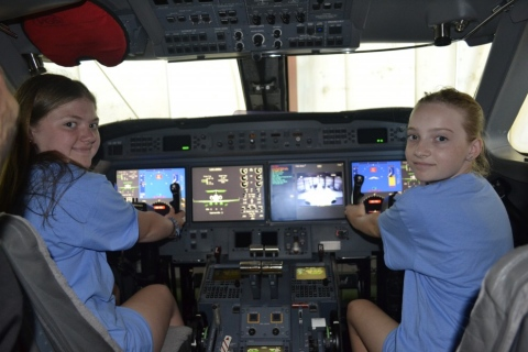 Sophia and Hailey in the Gulfstream
