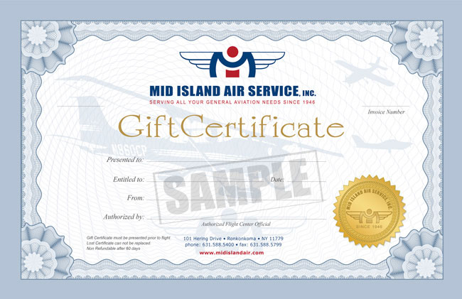 085e24fc0e8 Flight Gift Certificates